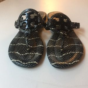 Tory Butch Miller Patent Sandals Patterned